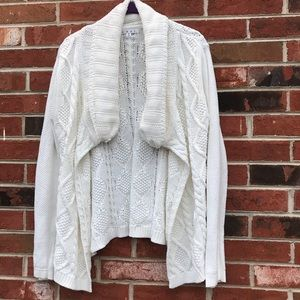 CAbi 100% cotton sweater/cardigan